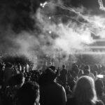 Festival Fireworks Crowd
